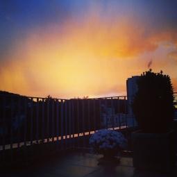 ...einen atemberaubenden Sonnenuntergang zu geniessen.