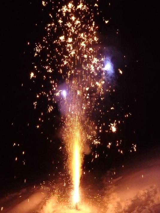 ...jedes Mal wieder von einem Feuerwerk fasziniert zu sein.
