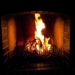 ...wenn das Feuer knistert.