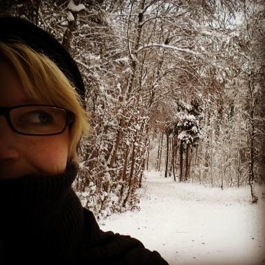 ...ein Spaziergang im Schnee.