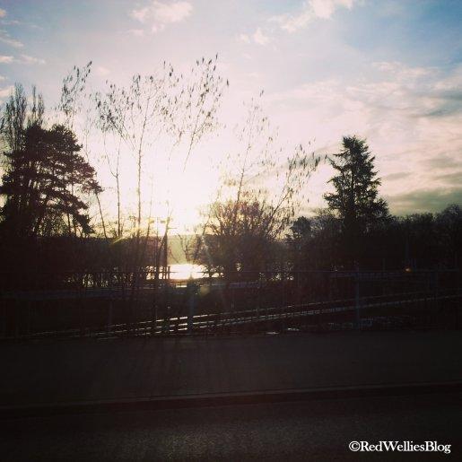 ...wenn auf dem Weg zur Arbeit das erste Mal im Jahr wieder die Sonne aufgeht.